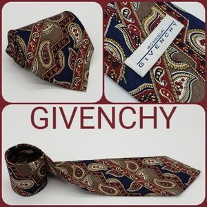 Givenchy Monsieur Tie Paisley 100% Silk Italy